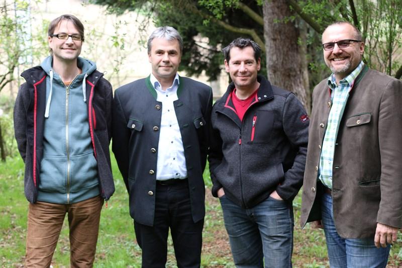 v.l.: Andreas Pirker, Hermann Erwin Maier, Peter Pucker und Herbert Mandl